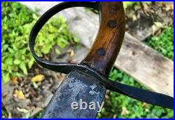 Superb CIVIL War Confederate D Guard Bowie Knife Short Sword IDD Mississipi