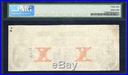 T-26 1861 $10 Confederate Currency Pmg 25 CIVIL War Money 94729
