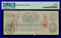 T-41 $100 1862 Confederate Currency CSA Civil War Graded PMG 66 EPQ