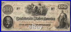 T-41 $100 Confederate Currency Very Fine CIVIL War Money 22811