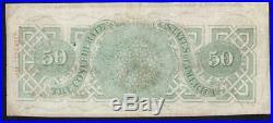 T-57 1963 $50 Confederate Currency CIVIL War Note 16809