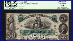T-6 1861 $50 CONFEDERATE CURRENCY PCGS 40 comment CIVIL WAR MONEY 137