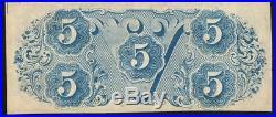 T-60 1863 $5 Confederate Currency CIVIL War Bill 96979