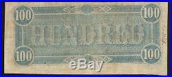 T-65 1864 $100 Confederate Currency CIVIL War Bill 63156