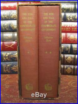 The Rise And Fall Of The Confederate Government CIVIL War Fine Set