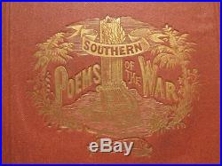 The Southern Poems Of The War 1869 Confederate CIVIL War Poems And Hymns