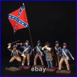 Tin soldier, Confederate Army Set. U. S. Civil War, (7 miniatures) 54 mm