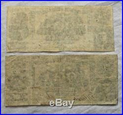 Two 1861 $20 Dollar Bills VA Confederate States Civil War Currency Paper Money