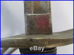 Us CIVIL War Confederate Cavalry Sword With No Scabbard Blade No Marks
