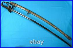 US Civil War Antique Old Confederate Cavalry Sword with Scabbard