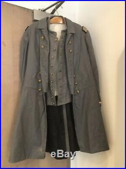 US Civil War Confederate Navy Officer 2 Coats From The Movie IRONCLADS (1992)