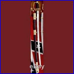 US Civil War Replica Confederate Cavalry Officer's 38 Saber Sword with Scabbard