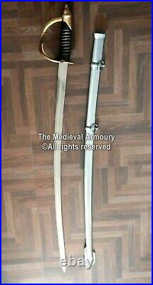 US Civil War Replica Confederate Cavalry Officer's Saber Sword with scabbard