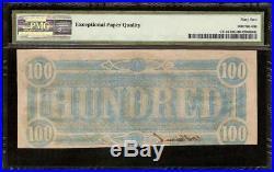 Unc 1864 $100 Dollar Confederate Note Havana CIVIL War Era Counterfeit Ct-65 Pmg