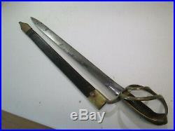 Us CIVIL War Short Navy Cutlass Sword With Scabbard No Marks Confederate