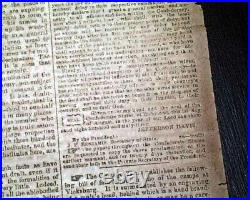 VERY Rare CONFEDERATE Memphis Civil War 1863 Newspaper with Publisher on the Run