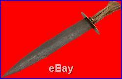 Very Good Large Confederate Fighting Dagger Bowie Knife, American Civil War era