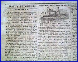 Very Rare CONFEDERATE New Bern NC North Carolina 1861 Civil War Old Newspaper