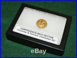 Very Rare! Original Civil War Confederate CSN Navy Button, SC backmark