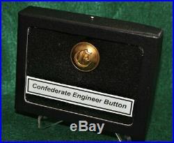 Very Rare Original Civil War Confederate Script E Engineer Button