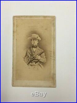 Very Rare and Unique CDV of Confederate Soldier Civil War