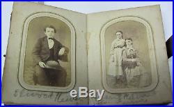 Vintage Album Tintype & Photo OH Ohio Confederate Soldier Civil War Era