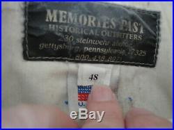 Vintage Civil War Confederate Butternut Wool Artillery Shell Jacket Size 48