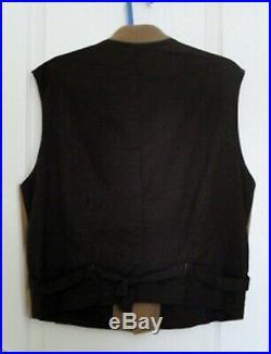 Vintage Civil War Confederate Butternut Wool Vest Size 44 Made USA