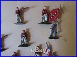 Vintage S. A. Sculptured Models Civil War Confederate Louisiana Tigers Figures