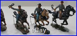 W. Britain Confederate American Civil War Six Horse and riders 17433-C EUC