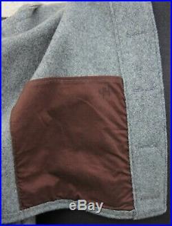 Waterbury CSA Civil War Confederate Soldier Grey Uniform Coat reenactor 44 Large