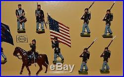 Wm. Hocker American Civil War Set #340/4 Confederate Infantry Column
